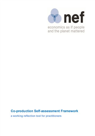 Co-production Self-assessment Framework: A working reflection tool for practitioners