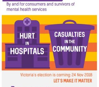 Hurt in hospital, Casualties in the community: Election issues by and for consumers and survivors of mental health services